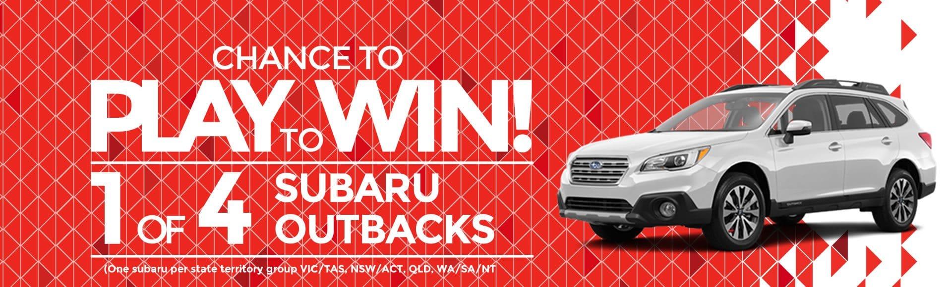 Win 1 of 4 Subaru Outbacks!